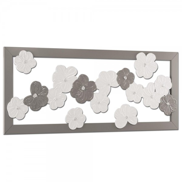 SUSPENDED FLOWERS - Италианско пано за стена, гланцов ефект