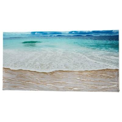 BEACH - Релефно пано със сребриста декорация
