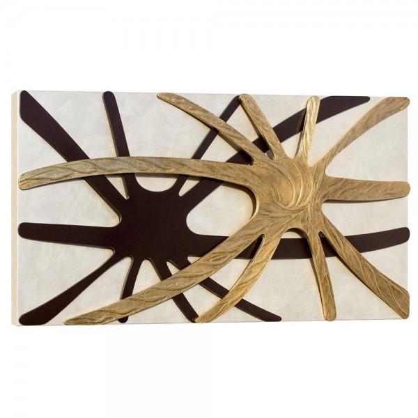 SPIDER NACRE - Модерно пано, с релефни детайли в цвят кафе и златисто