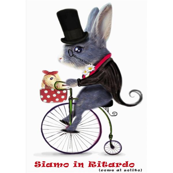 SIAMO IN RITARDO - Дизайнерска принт картина