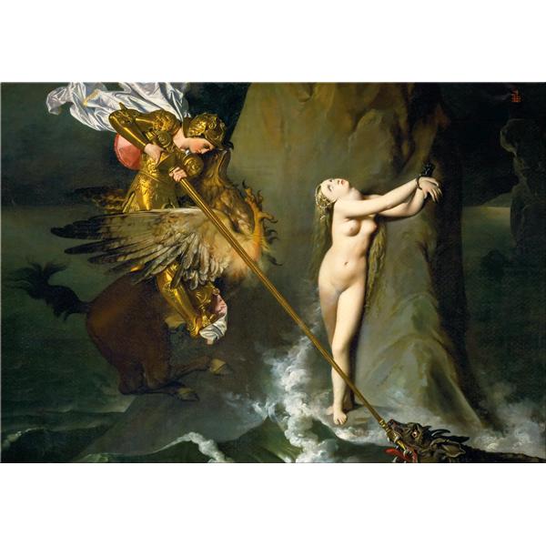 RUGGERO E ANGELICA - Интериорна принт картина