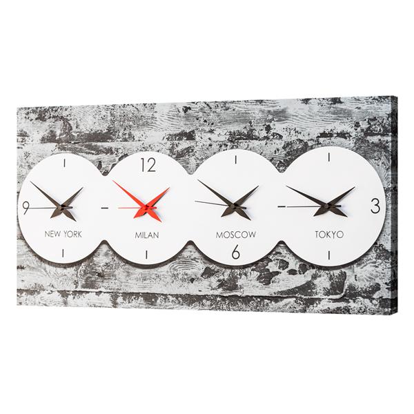 Модерен стенен принт часовник, IN TIME от Pintdecor