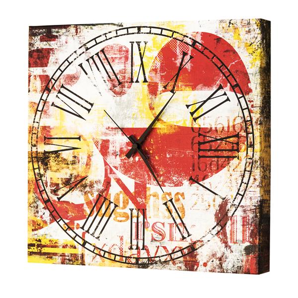Модерен стенен принт часовник, SPQR TIME от Pintdecor