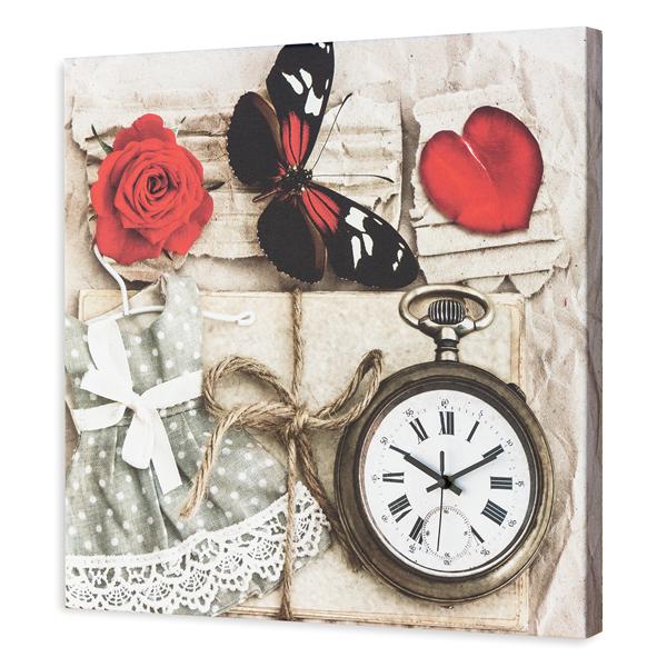 Модерен стенен принт часовник, ROMANTIC от Pintdecor
