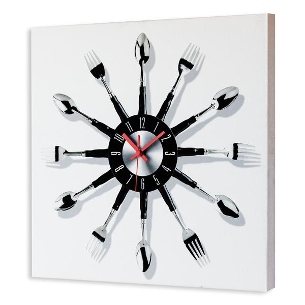 TIME to EAT - Италиански стенен принт часовник