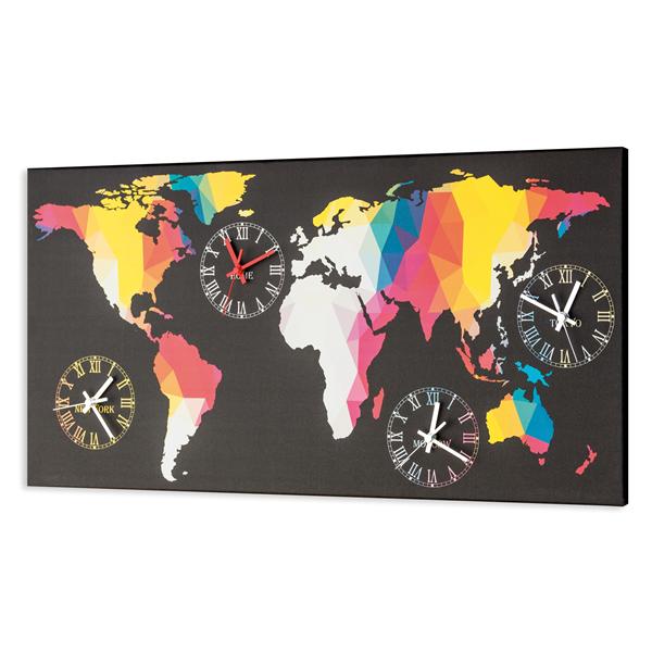 Модерен стенен принт часовник, PLANISFERO COLORATO от Pintdecor