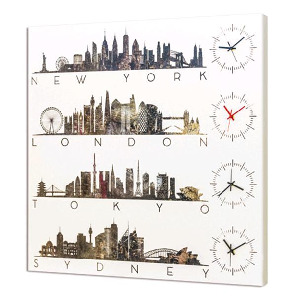 Модерен стенен принт часовник, LONDON TIME от Pintdecor