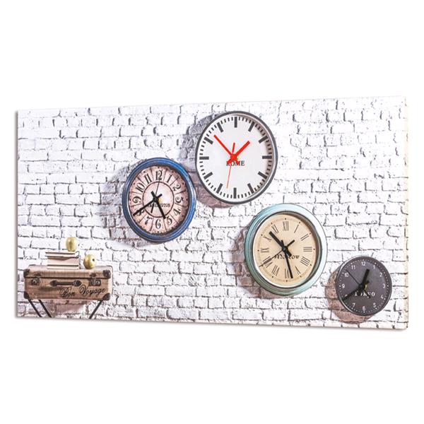 Дизайнерски стенен принт часовник, ORARI dal MONDO от Pintdecor
