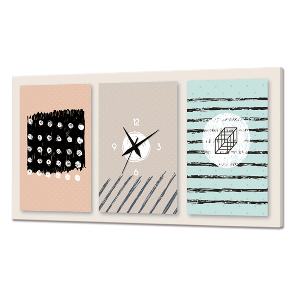 Дизайнерски стенен принт часовник, FORME ASTRATTE от Pintdecor