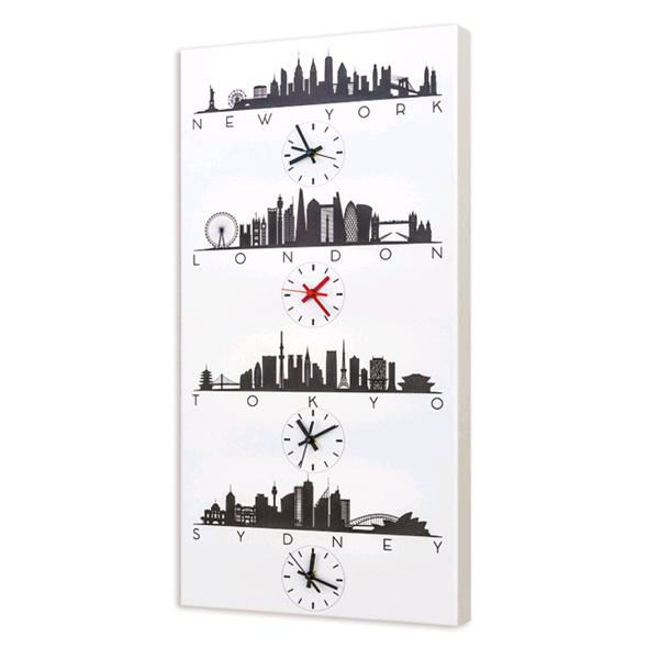 TOKYO TIME - Дизайнерски стенен принт часовник