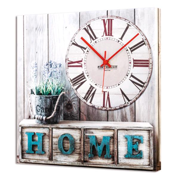 Дизайнерски стенен принт часовник, HOME TIME от Pintdecor