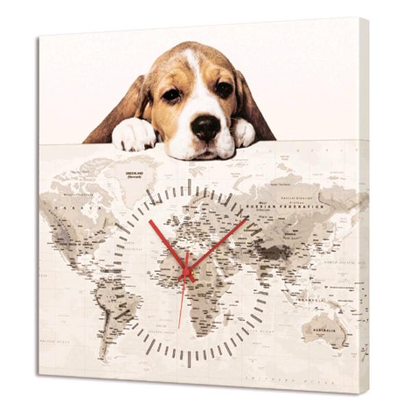 Дизайнерски стенен принт часовник, CUCCIOLO от Pintdecor