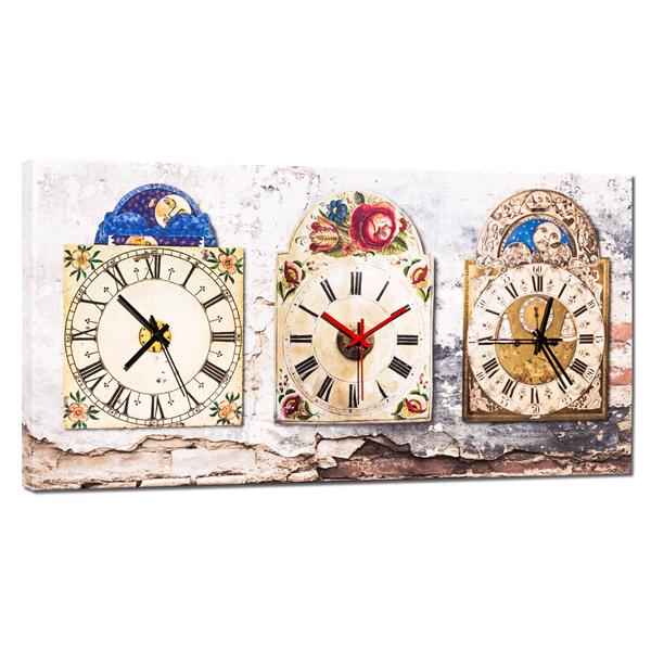 Дизайнерски стенен принт часовник, SOLELUNA от Pintdecor