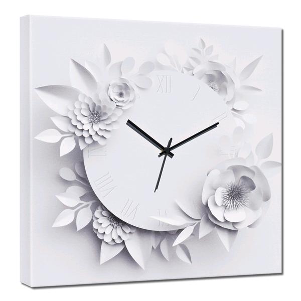 Модерен стенен принт часовник, BLANC от Pintdecor