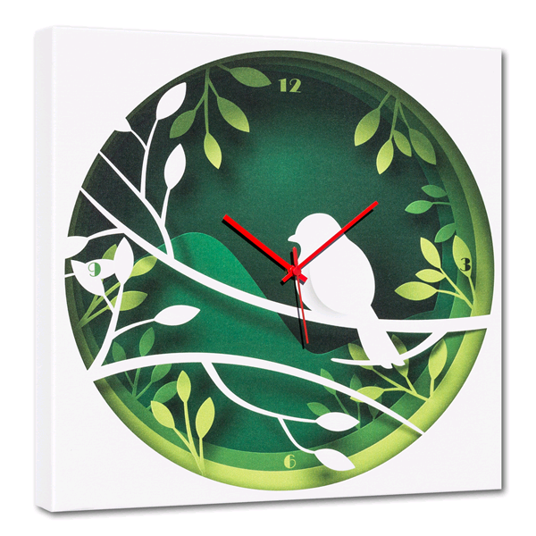 Модерен стенен принт часовник, NIDO от Pintdecor