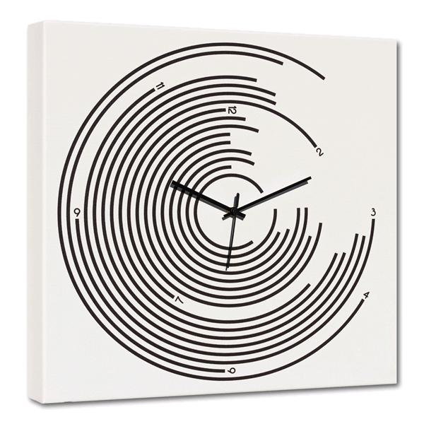 Модерен стенен принт часовник, BERSAGLIO от Pintdecor