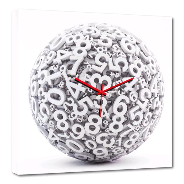 Дизайнерски стенен принт часовник, CAOS от Pintdecor