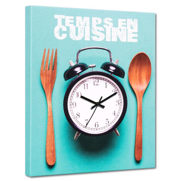 TEMPS en CUISINE - Италиански стенен принт часовник
