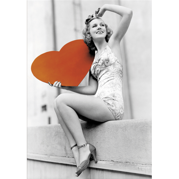 VINTAGE HEART - Модерна принт картина