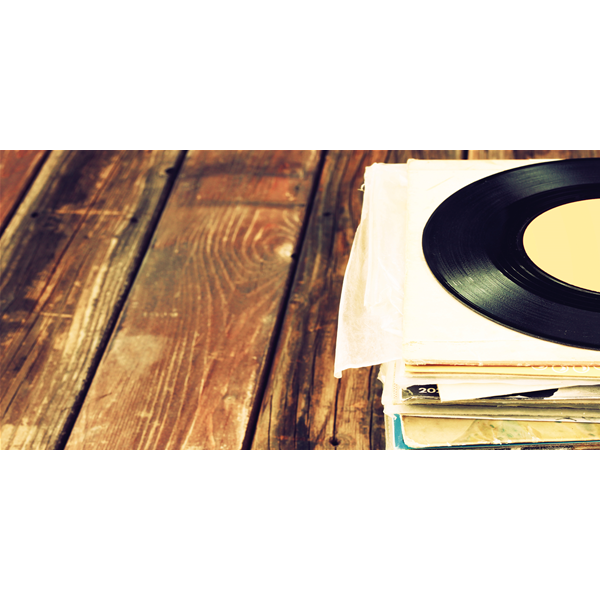 OLD RECORDS - Модерна италианска принт картина