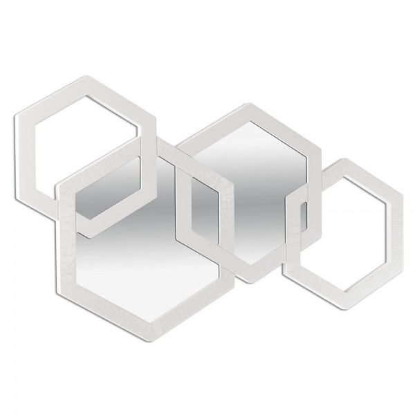 APOTEMA BIANCA - Дизайнерско огледало за стена, слонова кост гланц