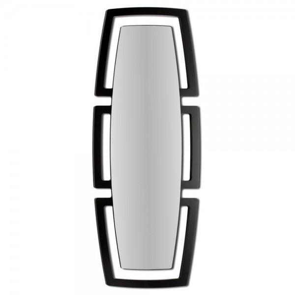 TOTEM NERO - Италианско огледало за стена, черен гланц