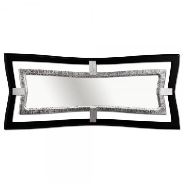 PROMETEO - Дизайнерско огледало в сребрист и черен гланц