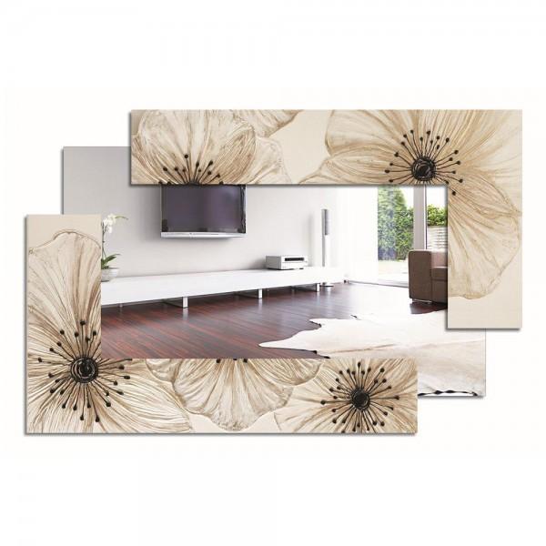 PETUNIA SCOMPOSTA PICCOLA - Ръчно декорирано огледало, смолисти детайли и гланцово покритие