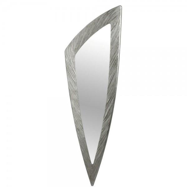 SELCE SILVER - Огледало за стена, сребристо релефно покритие