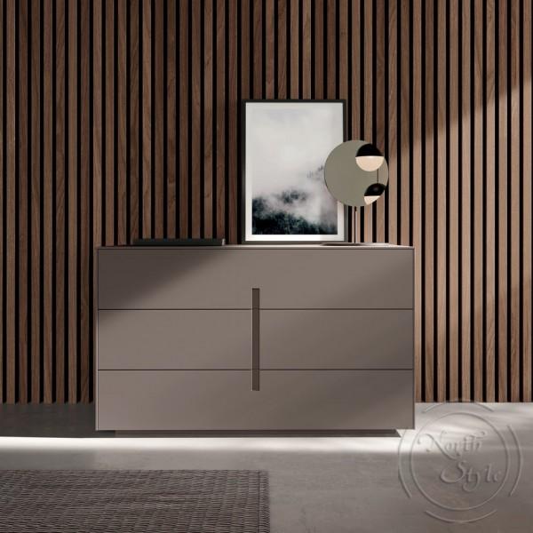 Модерен скрин за спалня, 3 бр. чекмеджета, ILO