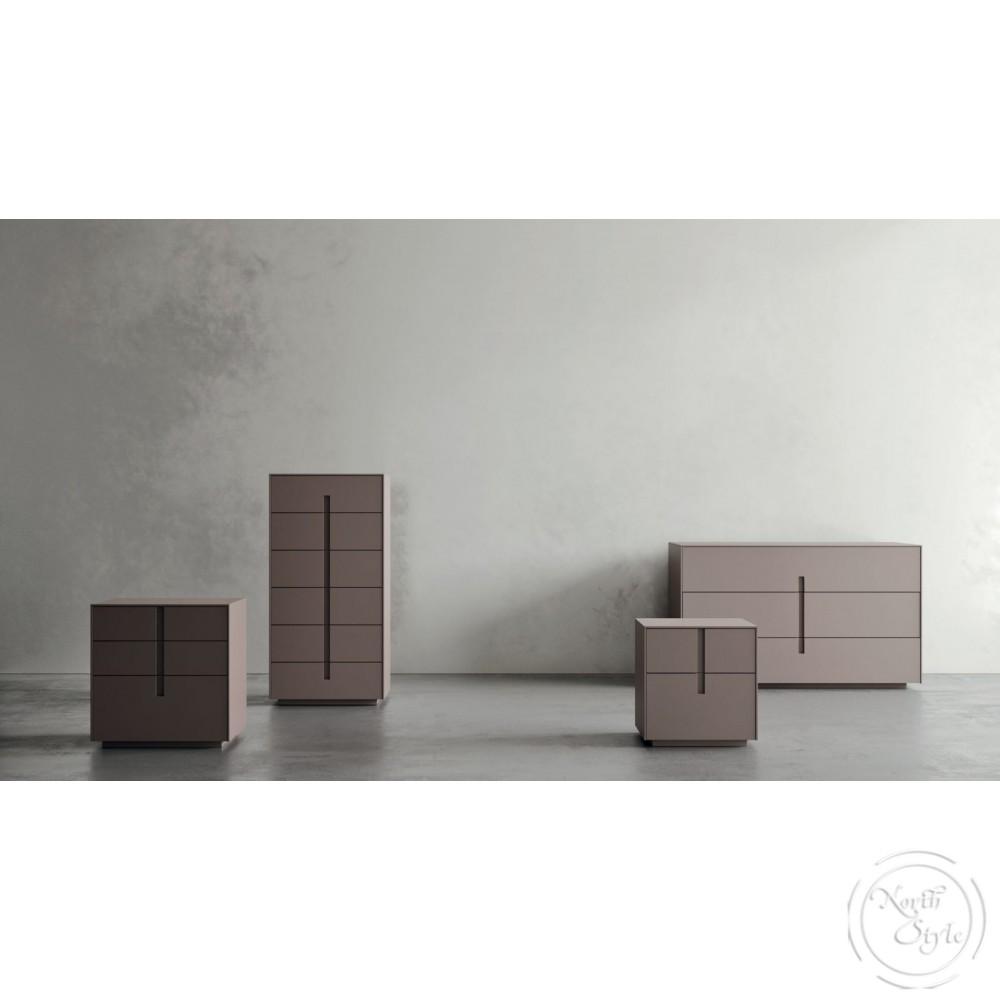 Модерни нощни шкафчета, 2 бр. чекмеджета, ILO