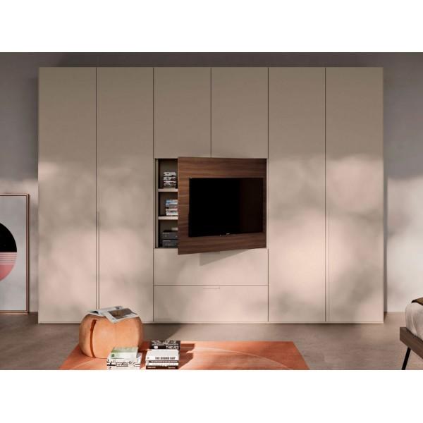 Модерен гардероб с TV панел, Liscia