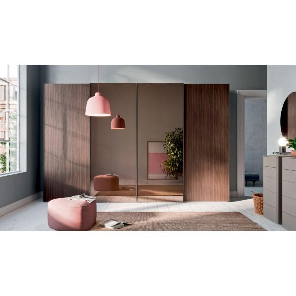 Италиански гардероб с плъзгащи врати, Trio Specchio