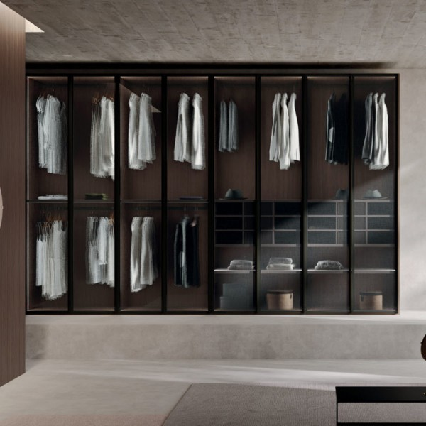 Модерен гардероб със стъклени врати, Glass