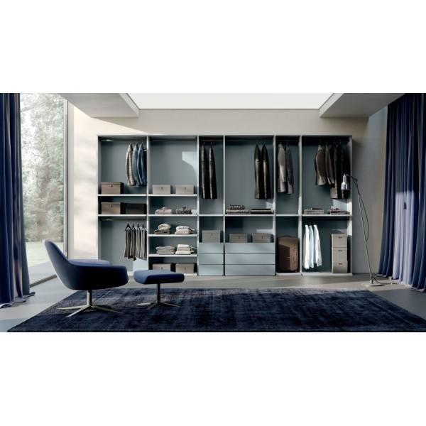 Модерен италиански гардероб с отворени врати, Flexi