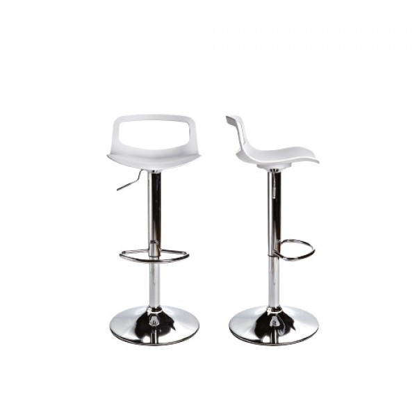 RUFO - Модерен италиански бар стол с бяла седалка