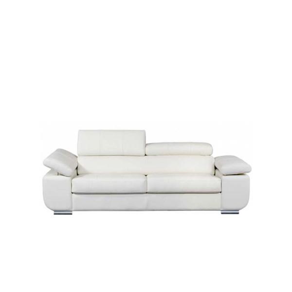 Мека мебел - 3-ка диван с бяла естествена кожа, GARDENIA от Alpa Salotti