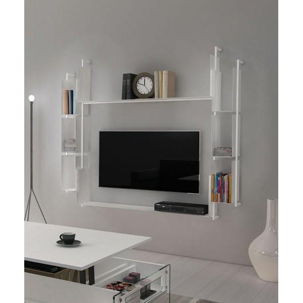 Модулна библиотека с място за TV, LIBRA 03