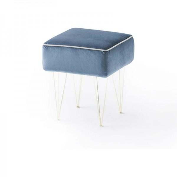 PILLS - Дизайнерска табуретка с метални крака и тапицерия от текстил
