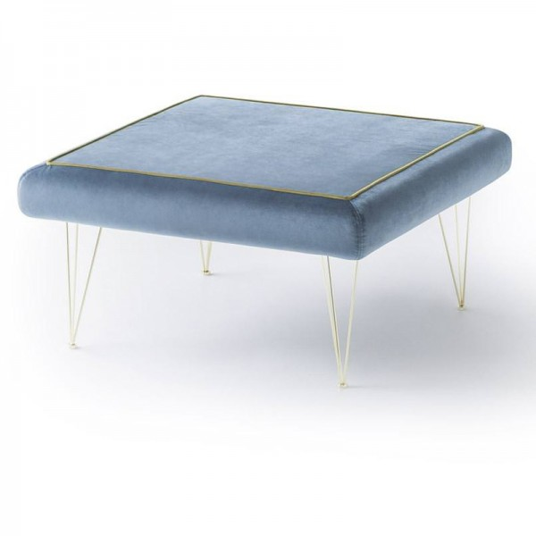 P - Табуретка с квадратна форма тапицирана със син текстил, PILLS  от 'Felis'