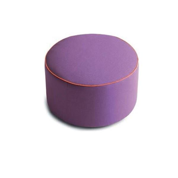 P - Модерна табуретка в лилаво с контрастен декоративен шев, POUF от 'Felis'