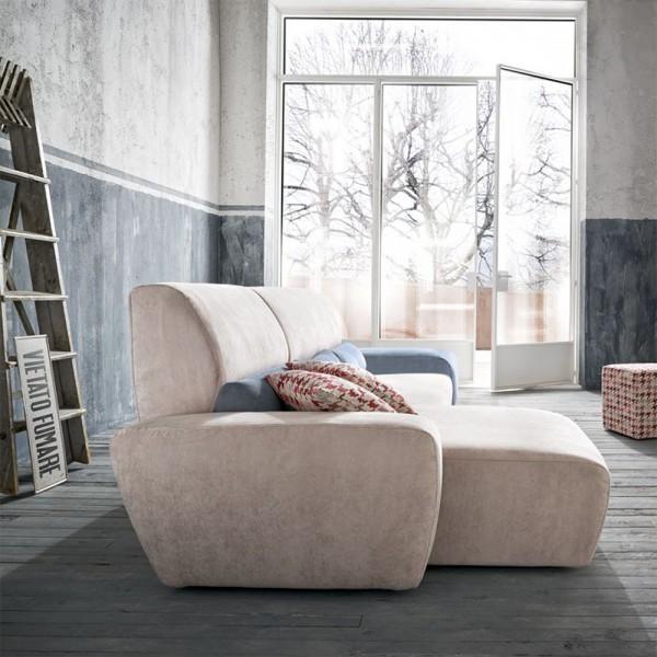 PETER - Модерен италиански ъглов диван от текстил
