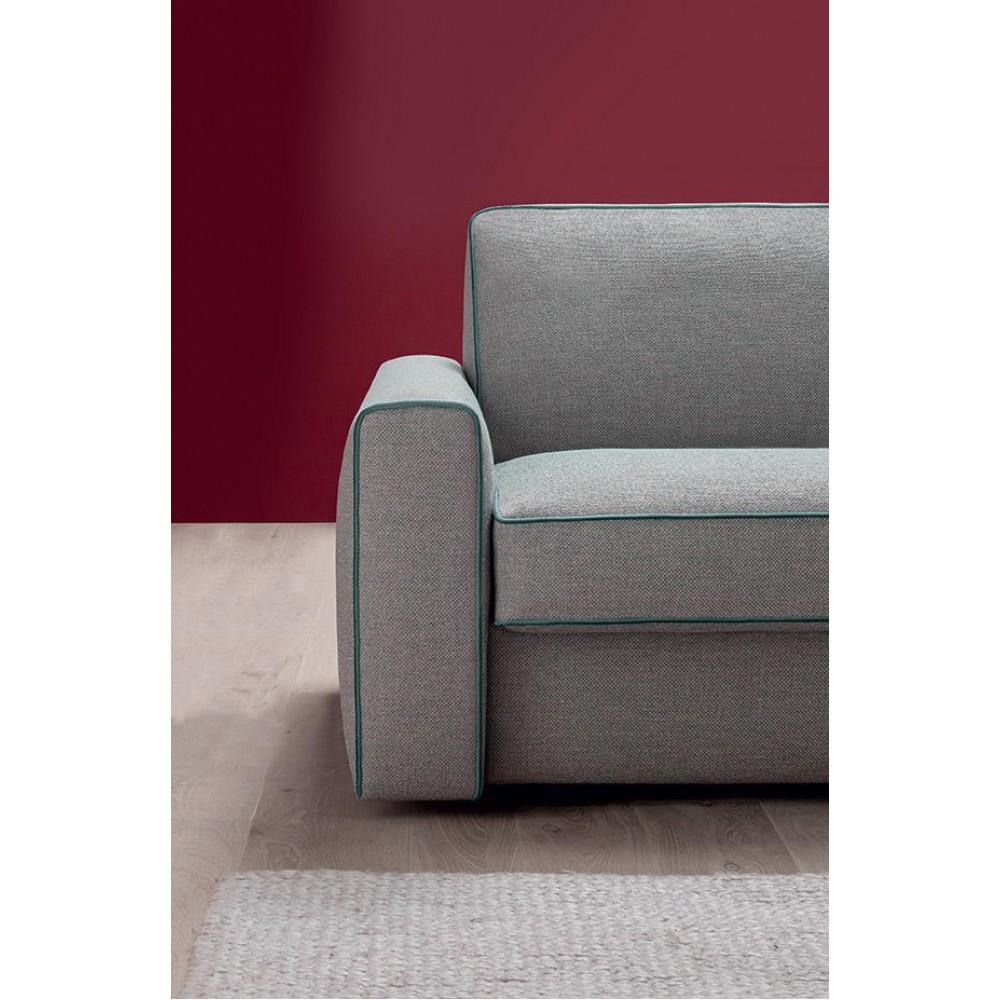 Италиански ъглов диван, Модерен дизайн, Разтегателен, Тапицерия текстил, EFRON от Felis