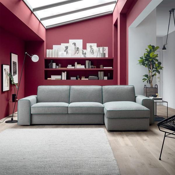 Италиански ъглов диван, Разтегателен, Текстил, EFRON от Felis