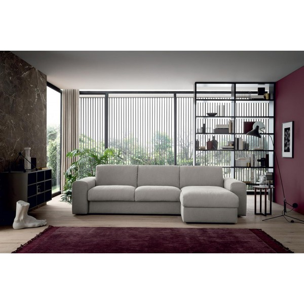 X - Модерен ъглов диван, С функция за сън, Текстил, SPIKE от Felis