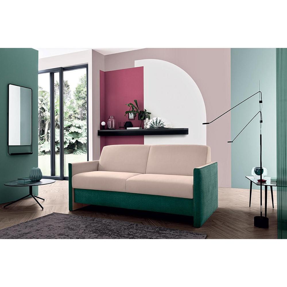 Модерен разтегателен диван, Текстил, Произведен в Италия, VEGAS от Felis