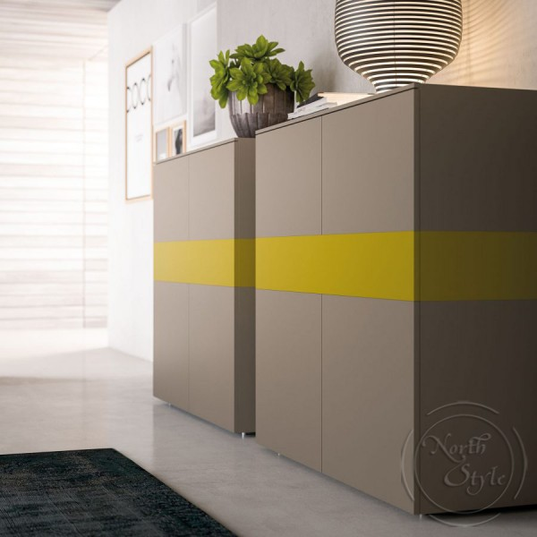 Модерен италиански шкаф за всекидневна, LIGHT DAY от 'Orme'