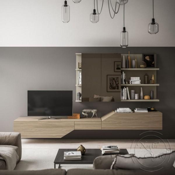 Модерна TV модулна система, LIGHT DAY от 'Orme'