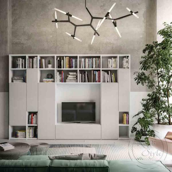 Модерна TV Модулна система за всекидневна, LIGHT DAY от 'Orme'