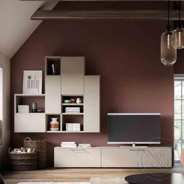 TV Секция в модерен италиански стил, LIGHT DAY от 'Orme'